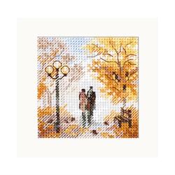 """Набор для вышивания""""Осень в городе. Старый парк"""" 7х7 см  """"Алиса"""""""
