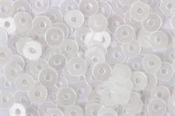 Пайетки россыпью 3 мм матовые цвет: прозрачно-белый 1 п.