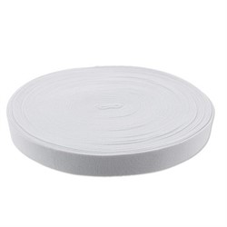 Лента эластичная белая 25 мм 1 м