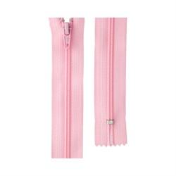 Молния спираль н/р брючная 20 см тип однозамковая цвет: 133 св. розовый