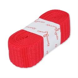 Стропа (ременная лента) 25 мм, цвет красный  2.5 м