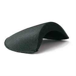 Плечевые накладки втачные обшитые  черные 1 пара