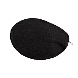 Плечевые накладки реглан обшитые черные 1 пара