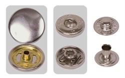 Кнопки металлические 'альфа' d 15 мм  1 компл