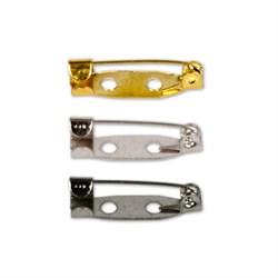 Заготовки для броши 2 см (золото)  1 шт