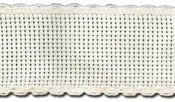 Канва 'лента'  Aida 14 белая 35 мм х 1.5 м