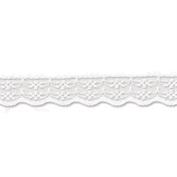 Кружево 22 мм  цвет белый 1 м