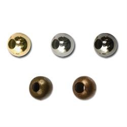 Бусины металлические 3.5 мм  50 шт