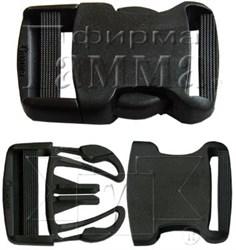 Пряжка-фастекс черный 38 мм  1шт.