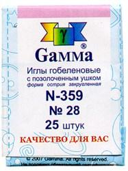 Иглы для шитья ручные 'Gamma' гобеленовые №28 (конверт 25 шт.)