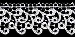 Гипюр 53 мм белый 1м