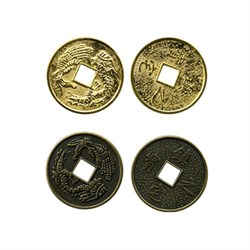 """Подвеска """"Китайская монетка"""" золото  1шт"""