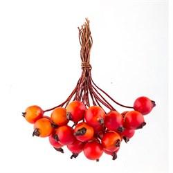 Декоративные элементы 'Ягоды' красно-оранжевые  6 х  24 шт.