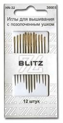 Иглы для шитья ручные 'BLITZ'   для рукоделия   HN-32 300Е5   блистер   12 шт.