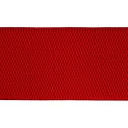 Лента эластичная 70 мм красная  1м
