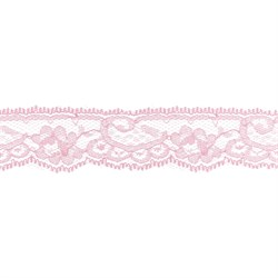 Кружево 30 мм цвет грязно-розовый 1 м