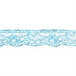 Кружево 30 мм цвет 323 ярко-голубой 1 м