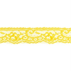 Кружево 30 мм, цвет 758 желтый 1 м