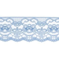 Кружево 60 мм цвет 021 голубой 1 м
