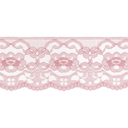 Кружево 60 мм  цвет 307 грязно-розовый 1 м