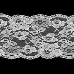 Кружево 140 мм цвет 301 белый 1 м