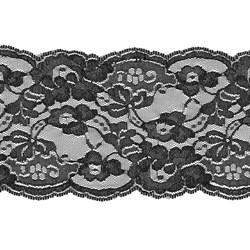 Кружево 140 мм цвет 325 черный 1 м