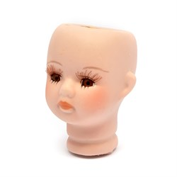 Голова фарфоровая карие глаза, 4,5 х 6,8 см