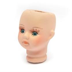Голова фарфоровая арт.КЛ.25139 голубые глаза, 4,5х6,8 см
