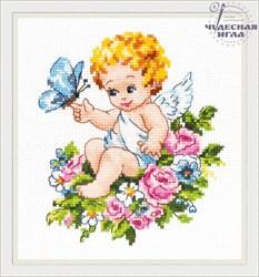 """'Ангел нашей любви!' 12х15 см """"Чудесная Игла"""""""