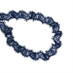 Кружево 'реснички'  шир.40мм  т.синий   1м