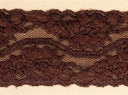 Кружево-стрейч шир.75 мм цв.коричневый 1 м