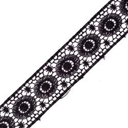 Кружево гипюр  шир.35мм цв.039 черный   1м