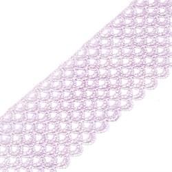 Кружево гипюр  шир.68мм цв. бл.розовый   1м