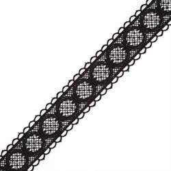 Кружево гипюр шир.38мм цв.черный   1м
