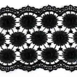 Кружево гипюр шир.73мм цв.черный   1м