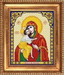 """Основа для вышивки бисером  """"Пресвятая Богородица Феодороская""""  """"Благовест"""" И-4054"""