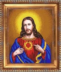 """Основа для вышивки бисером """"Открытое сердце Иисуса"""" """"Благовест"""" К-4031"""