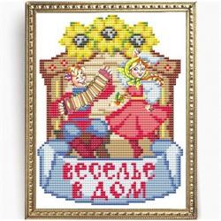 """Основа для вышивки бисером """"Веселье в дом"""" 'Славяночка'   КС-154"""