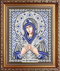 """Основа для вышивки  бисером """"Пресвятая Богородица Семистрельная"""" (в серебре) 'Славяночка' ИС-5040"""