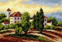 """Рисунок на канве """"Южный городок""""  """"Матренин Посад"""" 0517"""