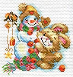 """Рисунок на канве """"Веселая зима""""  """"Матренин Посад"""" 1779"""