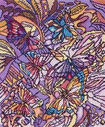 """Рисунок на канве """"Витраж с бабочками""""  """"Матренин Посад"""" 1802"""