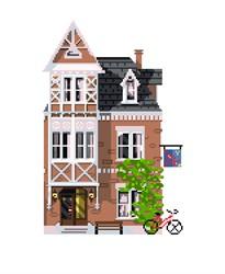 """Рисунок на канве """"Амстердам""""  """"Матренин Посад"""" 1806"""