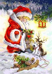 """Рисунок на канве """"Юный Санта""""  """"Матренин Посад"""" 1925"""