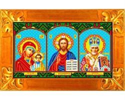 """Рисунок на ткани """"Икона-Триптих""""  """"Каролинка"""" КБИ-3002(с)"""