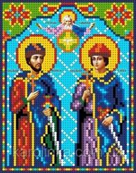 """Основа для вышивки бисером """"Св. Глеб и Борис"""" """"Каролинка""""  КБИ - 5075"""