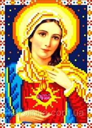 """Основа для вышивки  бисером """"Святое Сердце Марии"""" """"Каролинка"""" КБИ - 5016"""