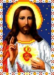 """Основа для вышивки  бисером """"Святое Сердце Иисуса"""" """"Каролинка"""" КБИ - 5032"""