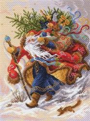 "Рисунок на канве ""Дед Мороз""  ""Матренин Посад"" 1702"