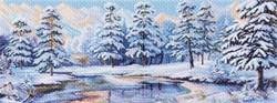 "Рисунок на канве ""Зимний лес"" 40 х 90 см  ""Матренин Посад"""